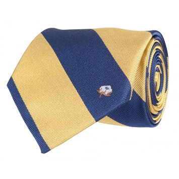 Cotton Boll Tie: Yellow & Navy